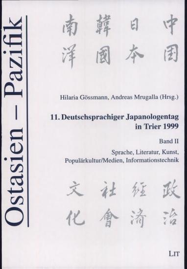 11  Deutschsprachiger Japanologentag in Trier 1999 PDF