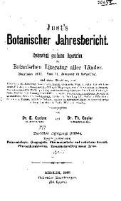 Just's botanischer jahresbericht: Systematisch geordnetes repertorium der botanischen literatur aller länder, Band 12,Teil 2