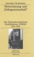 Motorisierung und  Volksgemeinschaft  PDF