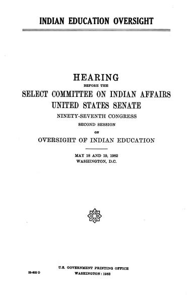 Download Indian Education Oversight Book