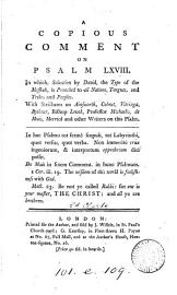 A Copious Comment On Psalm Lxviii  By R  Clarke