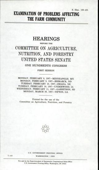 Examination of problems affecting the farm community PDF