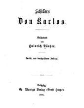 Erläuterungen zu Schillers werken: Bände 26-27