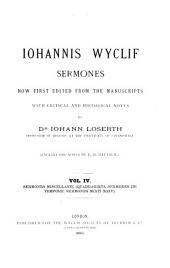Iohannis Wyclif Sermones: Sermones miscellanei (Quadraginta sermones de tempore, sermones Mixti XXIV)