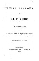 First Lessons in Arithmetic PDF