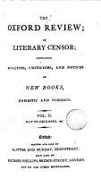 The Oxford review  or  Literary censor PDF