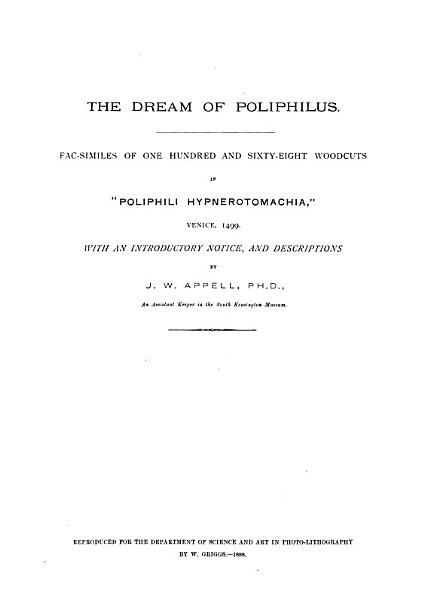 Download The Dream of Poliphilus Book