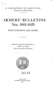 Farmers' Bulletin: Issues 1001-1025