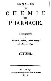 Justus Liebig's Annalen der Chemie: Bände 77-78