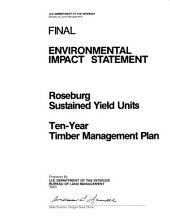 Roseburg Timber Management: Environmental Impact Statement