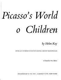 Picasso s World of Children PDF