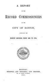 Report of the Record Commissioners: Volume 7