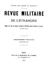 Revue militarie de l'étranger: Volume3