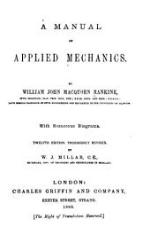 A Manual of Applied Mechanics