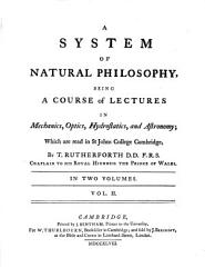 A System Of Natural Philosophy Book PDF