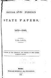British and Foreign State Papers: Volume 71