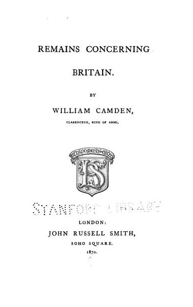 Download Remains Concerning Britain Book