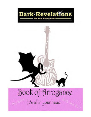 Dark Revelations   The Role Playing Game   The Book of Arrogance