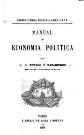 Manuel de economia politica