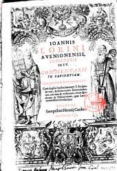 Ioannis Lorini ... Commentarii in Sapientiam