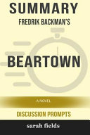 Summary  Fredrik Backman s Beartown  A Novel  Discussion Prompts