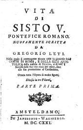 Vita Di Sisto V. Pontefice Romano: Volume 1