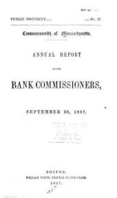 Report of the Bank Commissioners