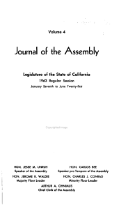 Journal of the Assembly  Legislature of the State of California Book
