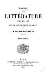 Histoire de la litterature française sous la restauration: Volume1