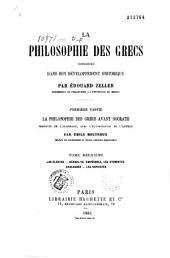 La philosophie des Grecs considérée dans son développement historique