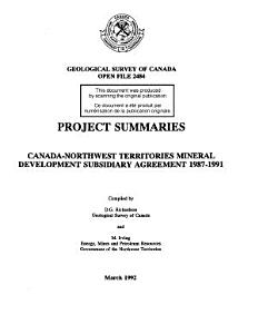 Geological Survey of Canada  Open File 2484 PDF