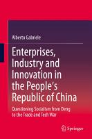 Enterprises  Industry and Innovation in the People s Republic of China PDF