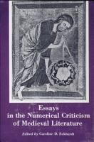 Essays in the Numerical Criticism of Medieval Literature PDF