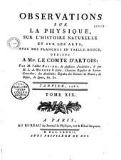 Observations sur la physique, sur l'histoire naturelle et sur les arts, par M. l'abbé Rozier (1771 au 1791)