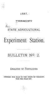Bulletin - Vermont Agricultural Experiment Station