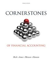 Cornerstones of Financial Accounting: Edition 3
