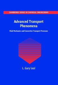 Advanced Transport Phenomena PDF