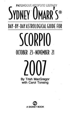 Sydney Omarr s Scorpio PDF