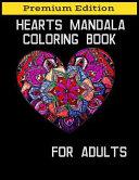 Hearts Mandala Coloring Book for Adults