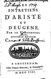 Les entretiens d'Ariste et d'Eugène