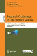Research Challenges in Information Science