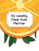 52 Weekly Meal Note Planner