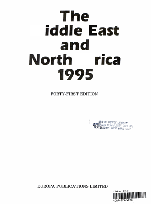 The Middle East and North Africa  1995 PDF