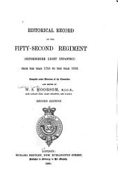 Historical Record of the Fifty-second Regiment (Oxfordshire Light Infantry): From the Year 1755 to the Year 1858