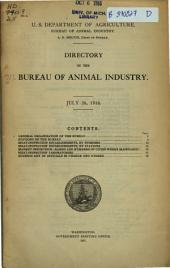 Directory of the Bureau of Animal Industry