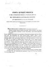 Iudicia quinque ordinum Universitatis Fridericiae Guilelmiae Rhenanae de litterarum certaminibus anni ... facta novaeque quaestiones anno ... propositae: 1838