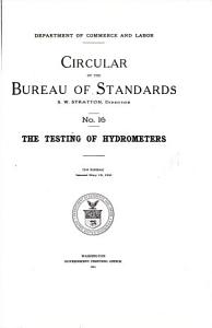 The Testing of Hydrometers PDF
