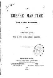 La guerre maritime: étude de droit international