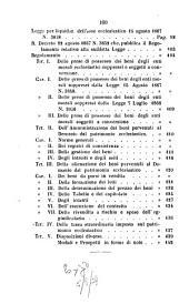 Raccolta delle leggi e dei regolamenti relativi alla cassa ecclesiastica, alla sopressione degli ordini religiosi e all'asse ecclesiastico