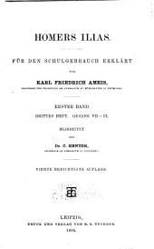 Homers Ilias: Hft. 1. Gesang I-III. 6. berichtigte Aufl., 1903